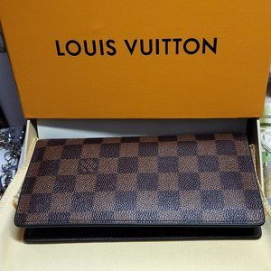 LOUIS VUITTON BRAZZA wallet Damier brown